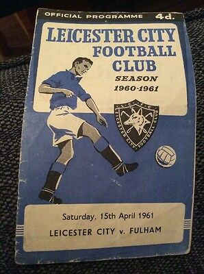 Leicester City v Fulham 1960/61 Programme