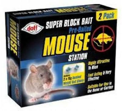 Doff Super Block Bait Pre-Baited Mouse Station Twin Pack