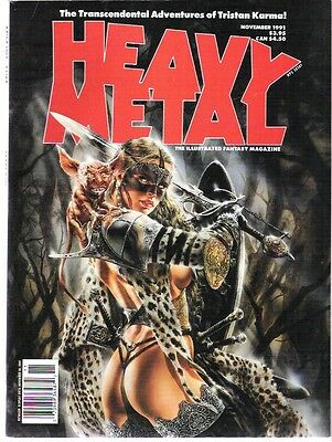 Heavy Metal November,september 1991,may,july 1992  Lot Of 4  Vf/nm