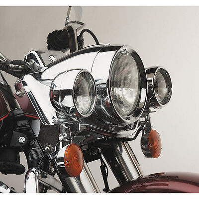 """Custom Chrome 4 1/2"""" Frenched Passing Lamp Trim Ring for Harley '62-Up"""