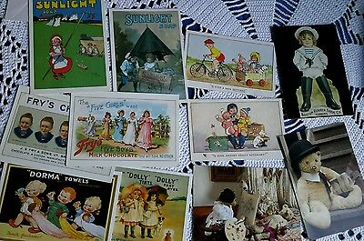 Selection of mixed postcards reproduction part times advertising