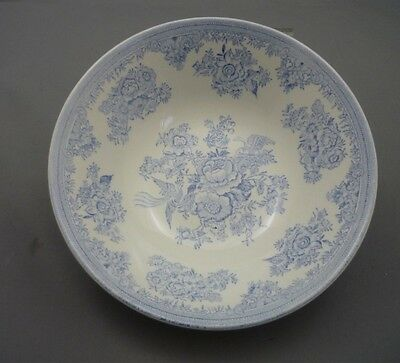 """Burleigh Asiatic Pheasants Blue & White England China 6 1/4"""" Cereal Soup Bowl"""