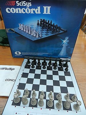 Scisys Concorde II Electronic chess game. Vintage 1984. Working order