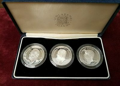 1994 Iceland Great Personage 3 Proof Silver Coins Set