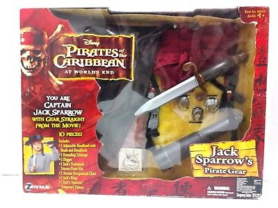 Zizzle Disney Pirates Of The Caribbean At Worlds End Jack Sparrow Pirate Gear
