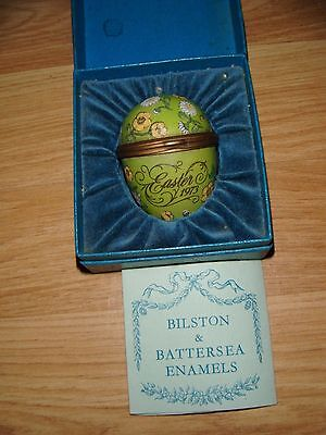 Bilston & Battersea Halcyon Days Enamels Easter Egg ~ 1973 ~ Boxed ~ RARE