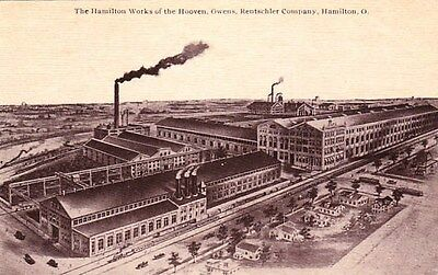 Hamilton Ohio The Hoover, Owens, Rentschler Company Factory Old Postcard