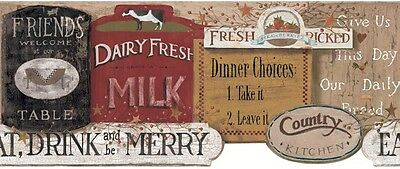 York Country Kitchen Signs -Wallpaper Border