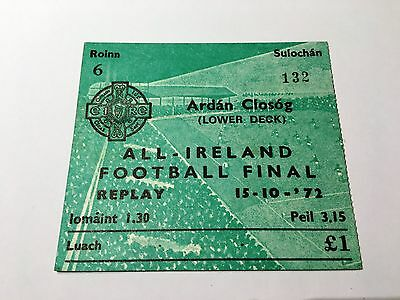 1972 All-Ireland Football Final (Replay) Cusack Stand ticket