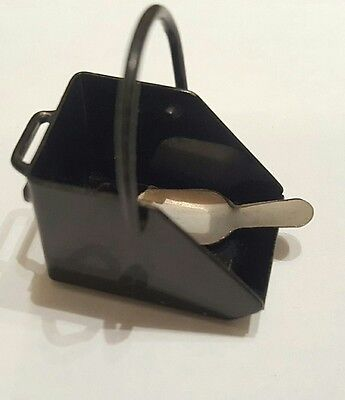 Vintage Miniature Doll's House Coal Scuttle Bucket and Shovel