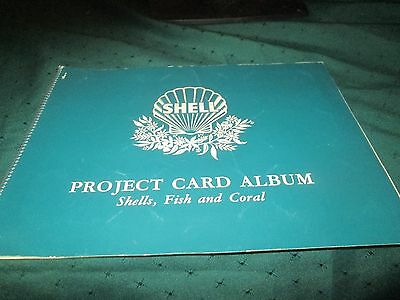 SHELL PROJECT CARD ALBUM - SHELLS, FISH & CORAL. 1950s. ALL COMPLETE.