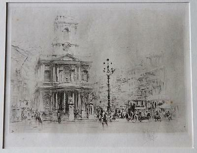 William Walcot – Original Signed Etching – St Mary le Strand Church 1929, London