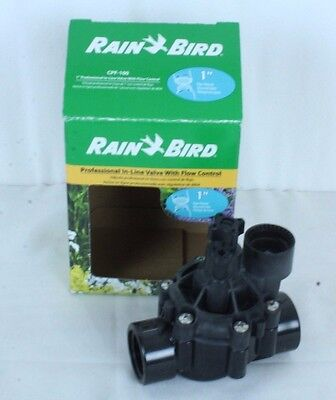 "Rain Bird CPF-100 1"" Professional In-LIne Valve With Flow Control No Instruction"