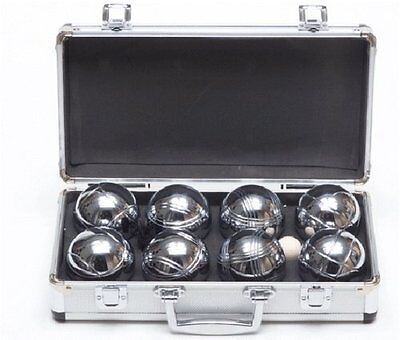 Garden Games Boules in Metal Carry Case 4 player set with steel engraved boules