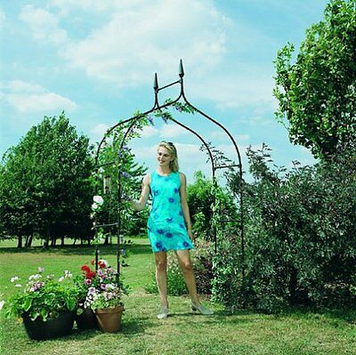 Gardman 2.95 x 1.4m Deluxe Gothic Garden Arch - Black - SAME DAY DISPATCH