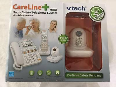 Vtech CareLine Plus SN6197 Home Safety Telephone System with Safety Pendant NIB