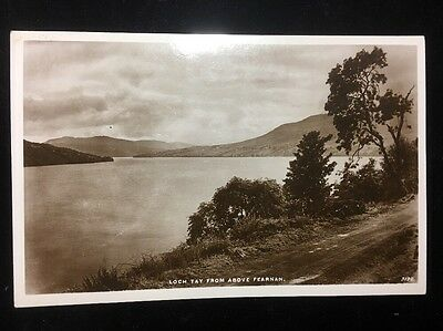 Loch Tay From Above Fearnan Real Photo Postcard J B White Dundee 1939