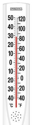 """Springfield Big & Bold, White, 15"""" x 3"""", Outdoor Tube Thermometer 90111-000-000"""