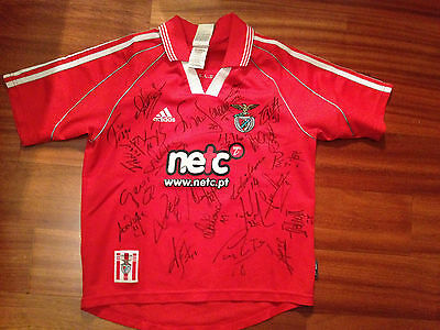 Benfica Official Replica 2002/2003 Squad (24 Players) Signed Shirt