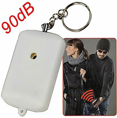 Small Minder Loud Personal Staff Panic Rape Attack Safety Security Alarm 90db
