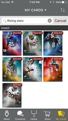 Topps Huddle Rising Star Assorted Plus First Diggs Award Card
