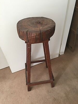 Rustic Red Gum Bar Stools x 2 As New condition