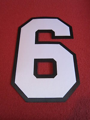 Twill Jersey Numbers - 2 color Custom