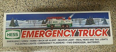 "1996 Hess Toy Truck ""emergency Truck"" New In Box"