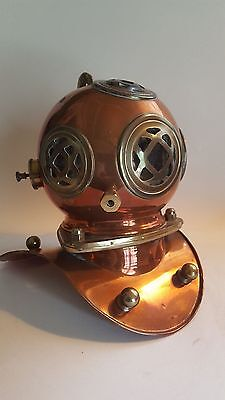 US Navy Mark V Divers Helmet - COPPER & BRASS - 8 INCH