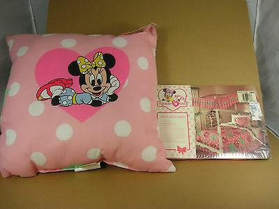 "Minnie & Me  Friends Forever Sham & 16"" pillow Walt Disney Minnie Mouse"