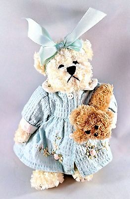Valentines Gift Unipak Jointed TEDDY BEAR Stuffed PLUSH w Roses, Buttons & PUPPY