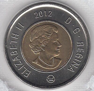 2012 Canada $2 Dollars Toonie (Old Generation) UNC Sealed From Mint Set