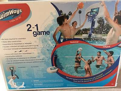 Brand New, Sealed Swimways 2-In-1 Game - Basketball & Volleyball