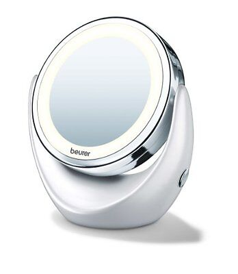 Beurer BS49 Illuminated LED Cosmetic Mirror - Battery Operated - UK SELLER