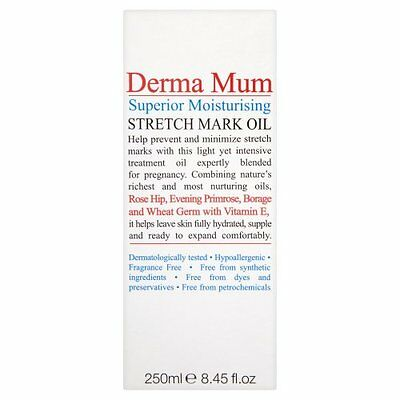 Derma Mum Stretch Mark Oil 250ml - SAME DAY DISPATCH