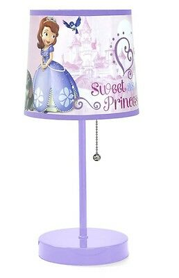 Disney Table Lamp Unique Sofia the First Graphics Kid's Room Decor Ready to Use