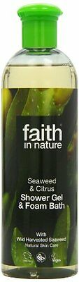 Faith In Nature Organic Seaweed Foam Bath and Shower Gel 400ml - UK SELLER