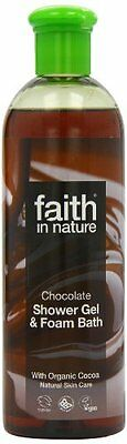 Faith In Nature Chocolate Shower Gel & Foam Bath The Ultimate Luxury 400ml