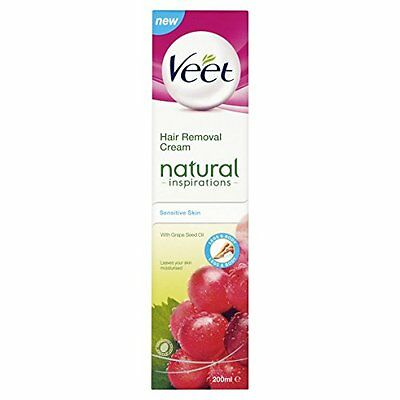 Veet Natural Inspirations Hair Removal Cream for Sensitive Skin 200ml - NEW