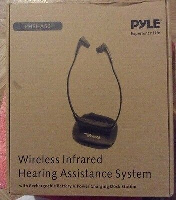 Pyle Health PHPHA56 Wireless TV Headset Headphone System and Hearing Assistance
