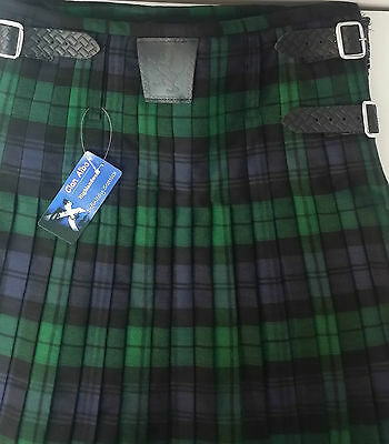 Black Watch  8 yard  Kilt ONLY Ex Hire £99 A1 Condition Large Stock But HURRY