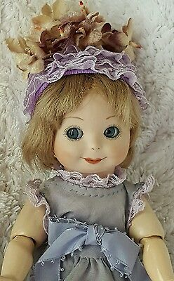 ♡♡♡ Beautiful Bisque Head/Composition Body Googly with Blue Glass Eyes  ♡♡♡