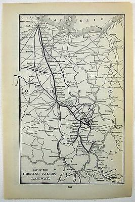 Original 1906 Map of the Hocking Valley Railway