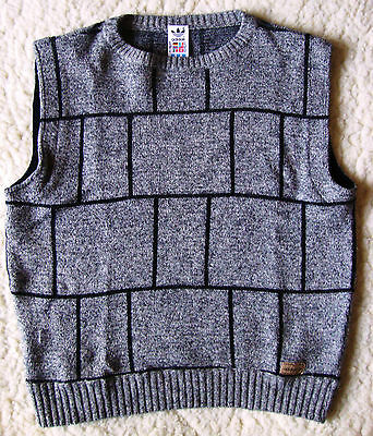 SWEATER gilet vintage 80's  ADIDAS  tg.46 circa M made in Austria