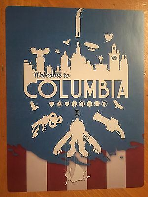 Tin Sign Vintage Metal Bioshock Welcome To Columbia