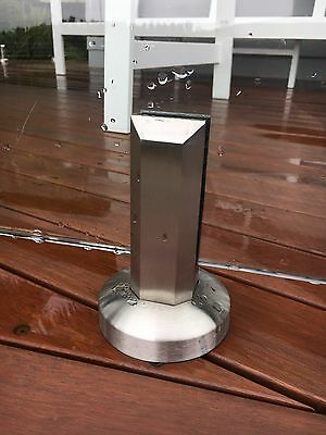 Brand New Everton Stainless steel glass pool fencing mini spigot posts.