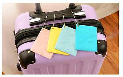 4X Colorful Clover Travel Luggage Tags Tag ID Card Holder Bag Suitcase Label