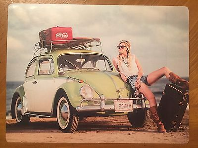 Tin Sign Vintage Coca-Cola VW Bug