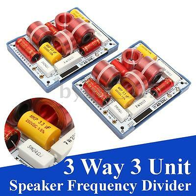 2x AS-33C 3 Way 3 Unit Senior Hi-Fi Speaker Frequency Divider Crossover Filters