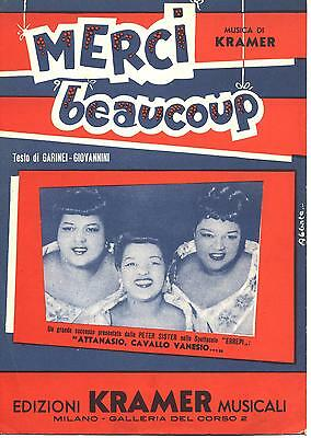 Spartito N154 - PETER SISTER - Merci beaucoup - 1953